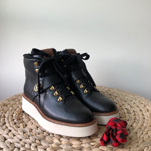 c29e234ff43 Coach Urban Hiker Boots with Signature Buckle
